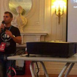Imagen ponencia de Tomás Sierra en la WordCamp Santander 2016