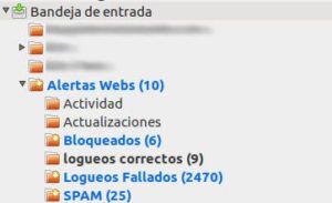 Alertas email