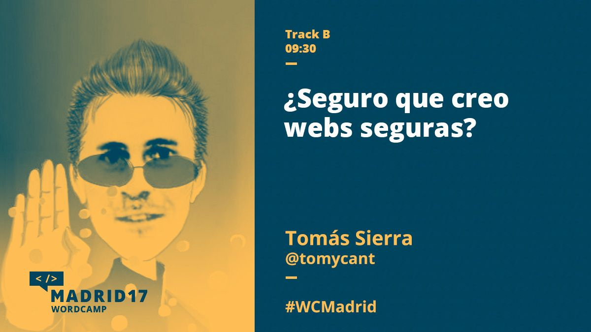 Tomás Sierra WordCamp Madrid 2017