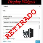 """""""Display Widgets"""" un plugin con sorpresa"""