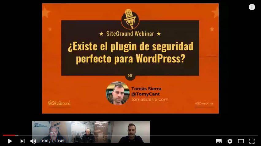 imagen Webinar para Siteground sobre seguridad en WordPress