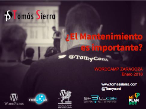 Presentacion Tomás Sierra WordCamp Zaragoza 2018