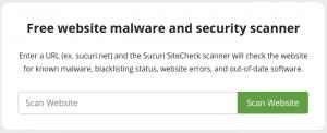 Herramientas para limpiar WordPress - Sucuri Sitecheck