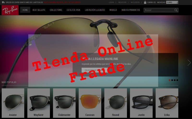 Tienda online ray-ban fraude