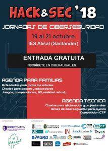 Cartel de las jornadas Hack & Sec 2018 en CiberAlisal