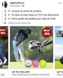 only4golf.com otra tienda falsa
