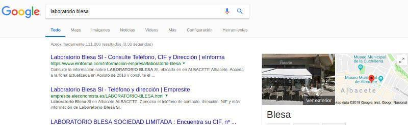 empresa - Tienda online falsa suplantando laboratorioblesa.es