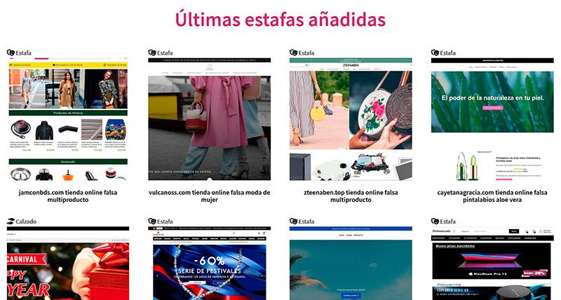 Fakeinet.com - Listado Estafas Y Tiendas Falsas De Internet