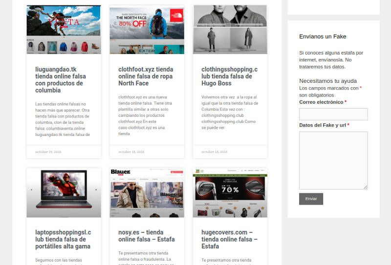 Fakeinet.com listado de Post - Estafas Y Tiendas Falsas De Internet